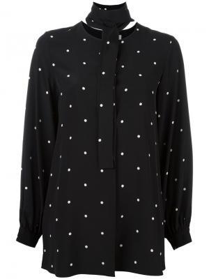 Рубашка в горох Sportmax. Цвет: чёрный