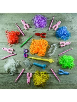 Подарочный набор резинок для плетения. 800 Loom Bands. Цвет: прозрачный