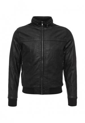 Куртка кожаная Warren Webber. Цвет: черный