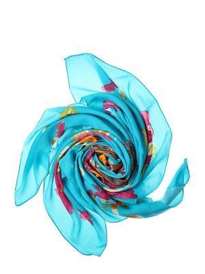 Платок Migura. Цвет: голубой, оранжевый, розовый, серый