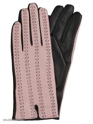 Перчатки женские с эффектом Touch Screen Marco Bonne`. Цвет: черный, розовый