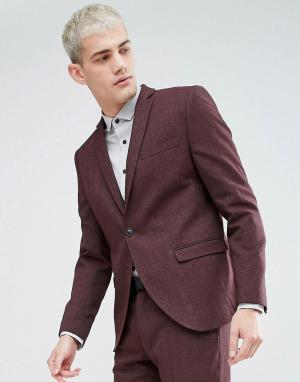 Selected Homme Приталенный пиджак. Цвет: красный