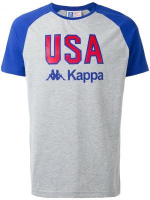 Футболка LA USA Kappa. Цвет: серый