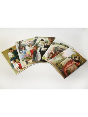 Набор поздравительных открыток от Е.Рождественской №1 Даринчи. Цвет: зеленый