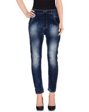 Джинсовые брюки YOSHII. Цвет: синий