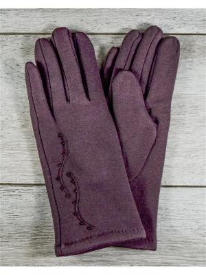 Перчатки Versal. Цвет: коричневый
