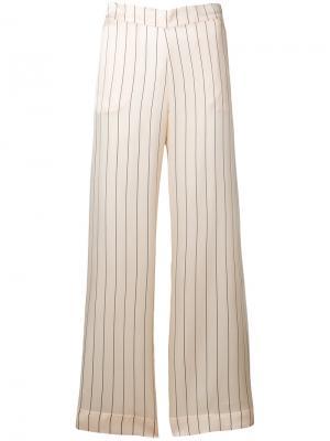 Пижамные брюки в горошек Asceno. Цвет: телесный