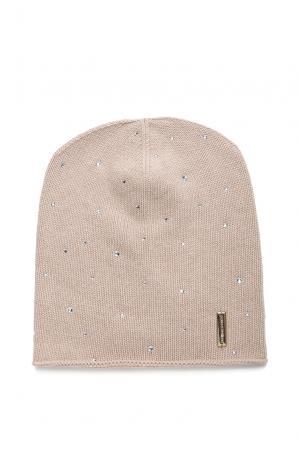 Шапка из кашемира в кристаллах Swarovski 181467 Mondana. Цвет: розовый