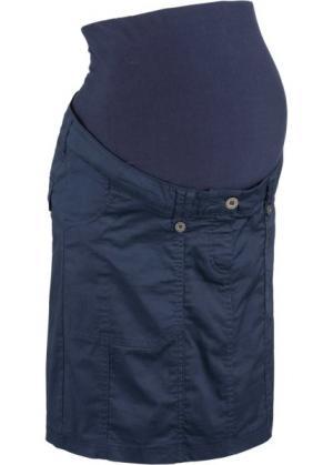 Юбка-карго для беременных (темно-синий) bonprix. Цвет: темно-синий