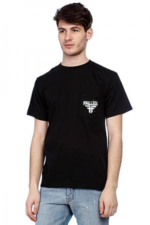 Футболка  Feedback Pocket Tee Black/White Подарок Fallen. Цвет: черный