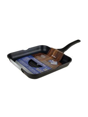 Сковорода литая-гриль Green Top. Цвет: черный