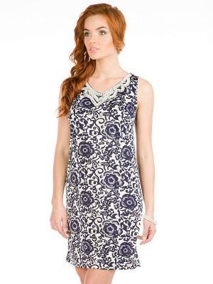 Платье VENUSITA. Цвет: синий, белый
