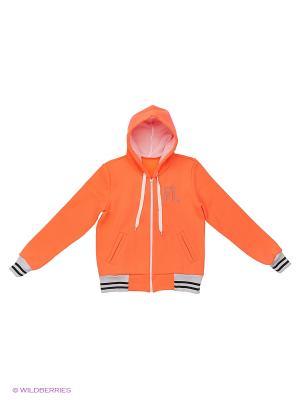 Куртка-бомбер для девочки FORLIFE. Цвет: персиковый