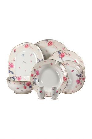 Сервиз столовый 23 предмета Royal Bone China. Цвет: розовый