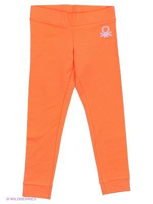 Брюки United Colors of Benetton. Цвет: оранжевый