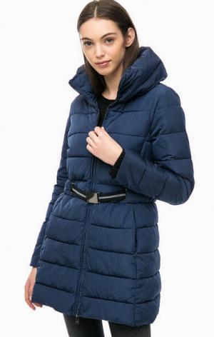 Удлиненная куртка синего цвета Kocca. Цвет: синий