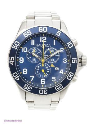 Часы наручные Nautica. Цвет: серебристый
