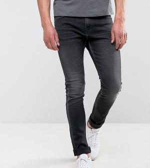 Edwin Черные джинсы скинни прямого кроя ED-90. Цвет: черный