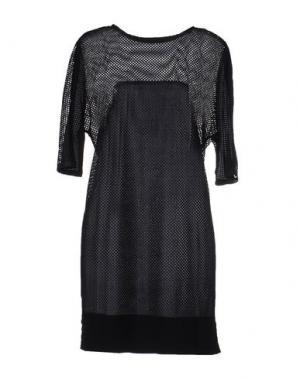 Короткое платье PAOLO ERRICO. Цвет: темно-синий