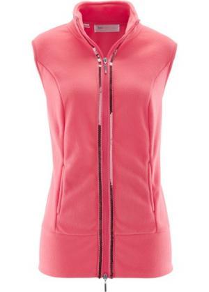 Флисовый жилет (ярко-розовый) bonprix. Цвет: ярко-розовый