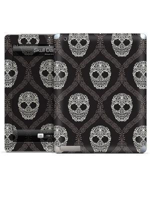 Виниловая наклейка для iPad Skull Damask-Michael Mille Gelaskins. Цвет: белый, черный