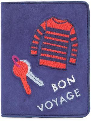 Обложка для паспорта Bon Voyage Lizzie Fortunato Jewels. Цвет: синий
