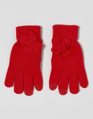 7X Перчатки для сенсорного экрана. Цвет: красный