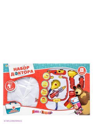 Набор доктор Маша и медведь Играем вместе. Цвет: белый, желтый, красный, синий