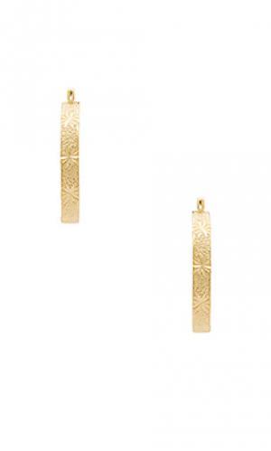 Серьги-кольца hillian Vanessa Mooney. Цвет: металлический золотой