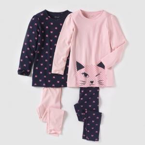 2 пижамы из джерси с рисунком R édition. Цвет: синий/ розовый