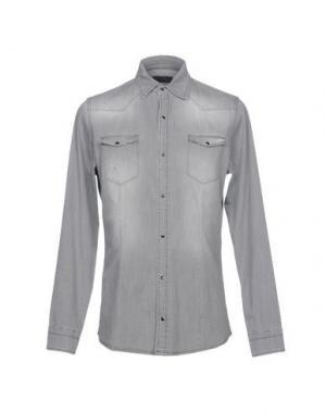 Джинсовая рубашка DANIELE ALESSANDRINI. Цвет: серый