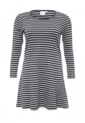 Платье Junarose. Цвет: серый