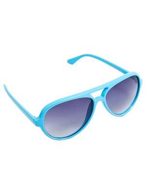 Солнцезащитные очки Kameo-bis. Цвет: голубой, серый