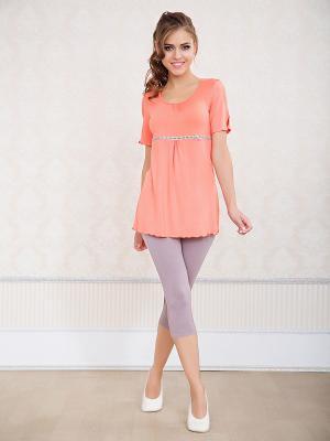 Пижама NicClub. Цвет: коралловый, серый