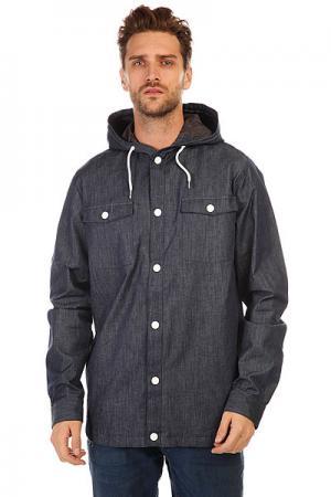 Куртка джинсовая  Field Shirt Denim CLWR. Цвет: синий