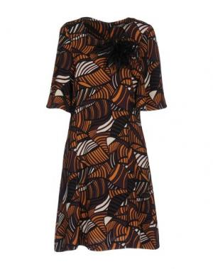 Короткое платье DIXIE. Цвет: баклажанный