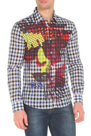Рубашка CNC COSTUME NATIONAL C'N'C'. Цвет: синий