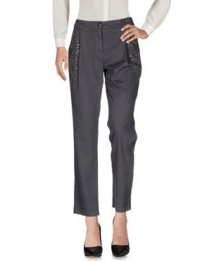 Повседневные брюки DIXIE. Цвет: свинцово-серый
