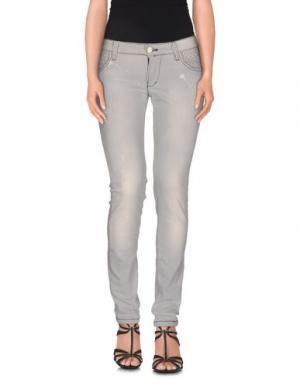 Джинсовые брюки YES LONDON. Цвет: светло-серый