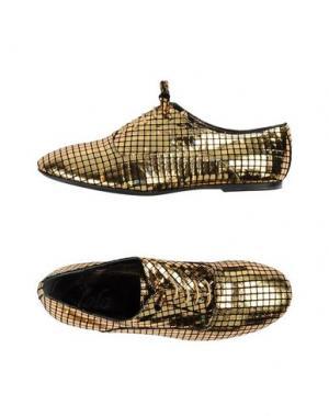 Обувь на шнурках LOLO. Цвет: золотистый