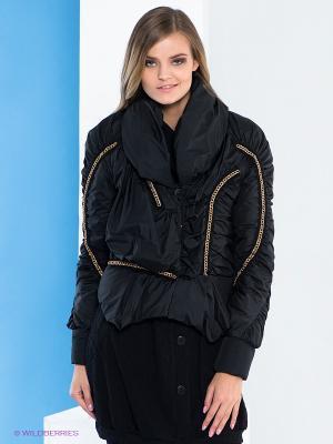 Куртка Say. Цвет: черный, золотистый