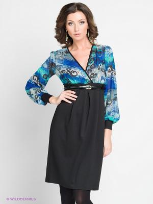 Платье Hammond. Цвет: черный, синий, бирюзовый