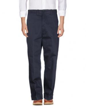 Повседневные брюки WOOSTER + LARDINI. Цвет: темно-синий