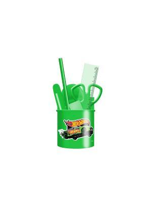 Набор настольный детский малый Hot Wheels Mattel. Цвет: зеленый