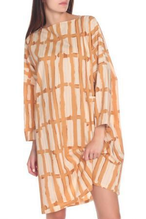 Платье Marni. Цвет: бежевый