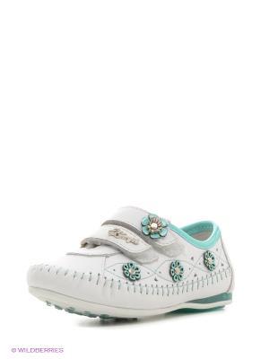 Ботинки El Tempo. Цвет: белый, салатовый