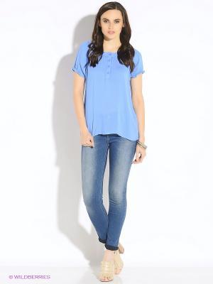 Блузка b.young. Цвет: синий