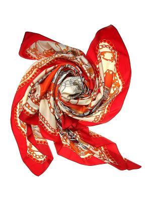 Платок Migura. Цвет: бежевый, красный, оранжевый