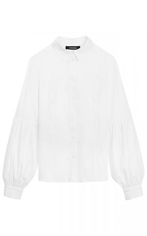 Белая хлопковая блузка La reine blanche