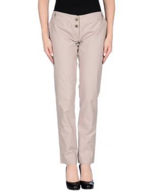 Повседневные брюки YES ZEE by ESSENZA. Цвет: голубиный серый